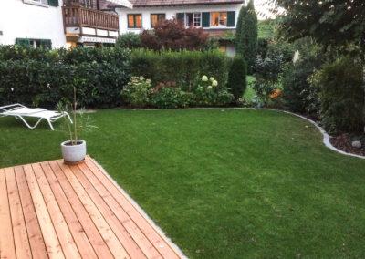 Terrassenboden Aussicht in Garten